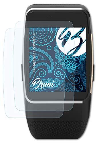 Bruni Schutzfolie kompatibel mit MyKronoz ZeWatch 4 Folie, glasklare Bildschirmschutzfolie (2X)