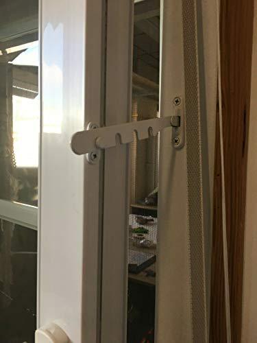 Fensterfeststeller mit Gelenk und Halteplatte weiss Holz PVC Fenster