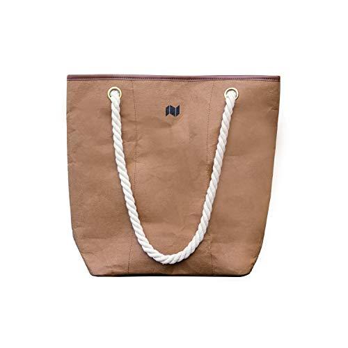 NEWBEK – Shopper – Handtasche, Schultertasche aus reiß- & wasserfestem ökofreundlichem Material wie Leder: Vegane Einkaufstasche Shopping Bag, Umhängetasche für Damen