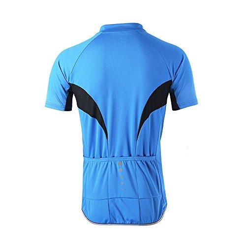 Arsuxeo Herren-Fahrradtrikot, enge Passform, Kurzarm, Fahrrad, MTB-Shirt, Herren, blau, US S - 3