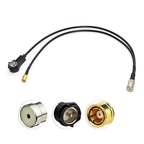 Eightwood Antenneadapter Radio Splitter Kabel Kupplung ISO Stecker auf ISO Buchse SMB Kabel RG174 12inch 30cm für AM/FM DAB Autoradio MEHRWEG