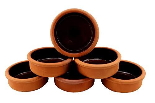 Keramik 6 Auflaufformen aus Ton, Schalen für Tapas, Gratin Güvec, Greixonera, Cazuela