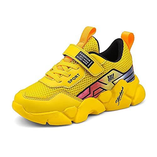 Zapatos cómodos Nueva tendencia de malla transpirable zapatos de los niños, color Amarillo, talla 40 2/3 EU