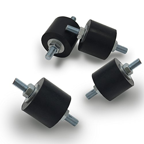 Anti-Vibration Rubber Isolator Mounts with Studs Shock Absorber, M8-1.25