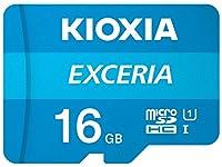 Kioxia 16GB / 32GB / 64GB / 128GB / 256GB microSD Exceria フラッシュメモリーカード アダプター付き U1 R100 C10 フルHD 高速読み取り 100MB/s 16GB LMEX1L016GG2