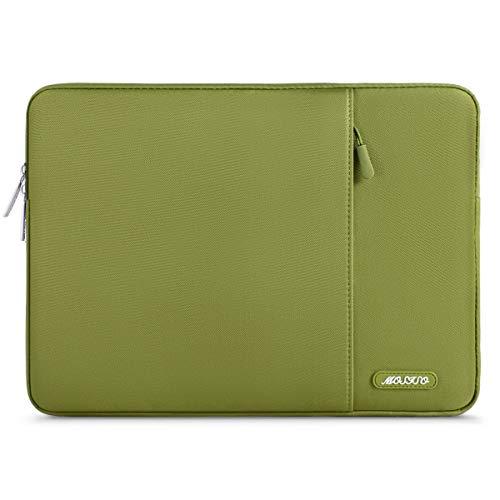 MOSISO Funda Protectora Compatible con MacBook Air 13-13.3 Pulgadas/MacBook Pro/Ordenador Portátil, Bolsa Blanda de Estilo Vertical,Chartreuse