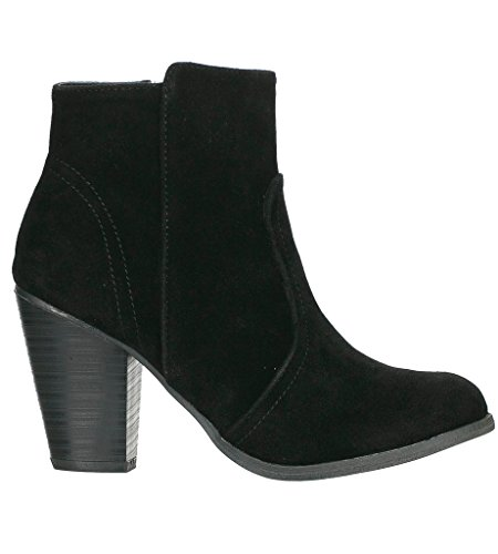 Breckelle's Heather-34W Bootie Boots,Black Suede,9