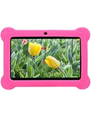 Barn Tablet PC, 7In High Definition 1GB + 8GB Quad Core Android Kids Edition Tablet Pcwith Silikonfodral, Support WIFI Parent Control Barn Barn Tablet, Long Standby Tablet PC-utrustning(je)