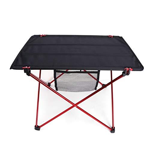 QIAOLI Al aire libre plegable ultraligero aleación de aluminio portátil Camping Picnic mesa plegable mesa de camping