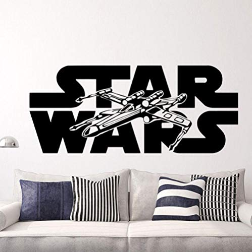 Star Wars Vliegtuigen Kinderkamer Kleuterschool Slaapkamer 57x24cm Muurtattoo Slaapkamer Woonkamer Keuken Woondecoratie Behang