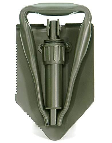 A.Blöchl AB Multifunktionaler 3 teiliger Feldspaten der Deutschen Bundeswehr mit Hülle und Säge (Oliv)