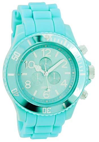 Oozoo C4834 - Reloj para Mujeres, Correa de Silicona Color Turquesa