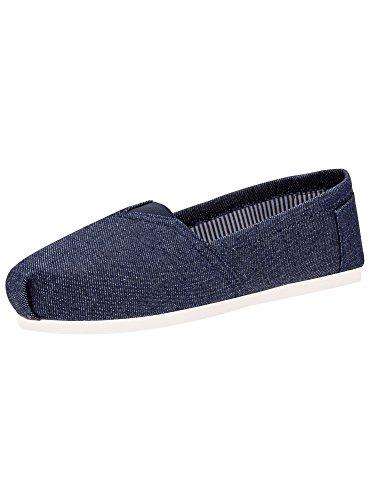 oodji Collection Mujer Zapatillas de Algod/ón de Suela Trenzada
