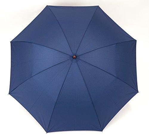 小宮商店 2段式 折りたたみ傘 2つ折り 二段折り 丈夫なグラスファイバー 超撥水 テフロン 60cm(紺)