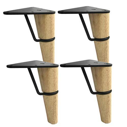 Möbelbeine, 5,9/7-Zoll-Massivholzsofa, Couchtisch, Thekenstützbeine, 4-Teilig, DIY Home Replacement Tischbeine