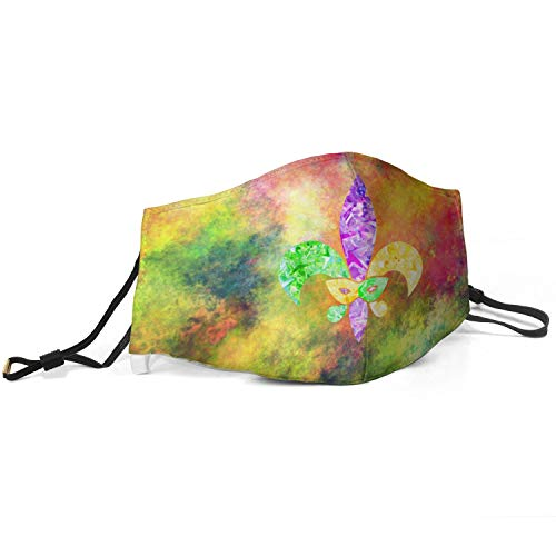 Fleur De Lis Mardi Gras Face Balaclavas Bandana Mouth Cover Reusable Face Cloth for Women and Men