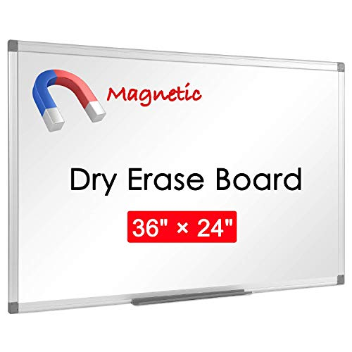 """36"""" x 24"""", Aluminum Alloy Frame, Honeycomb Core, Magnetic Dry Erase Board, White Board, Magnetic Whiteboard, Whiteboard, Magnetic White Board, White Boards for Wall, Large Whiteboard, 1 Pack"""