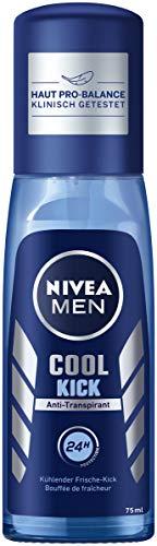 Nivea Men Cool Kick Deo verstuiver per per stuk (1 x 75 ml), anti-transpirant voor een verfrist huidgevoel, deodorant met 24 uur bescherming