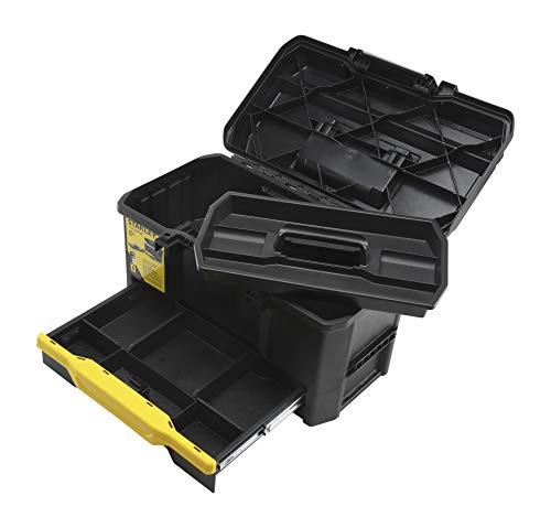 Stanley Werkzeugkiste leer aus Kunststoff 1-70-316 / Werkzeugkoffer mit integrierter Schublade für Kleinteile / Maße: 48.1 x 27.9 x 28.7 cm - 8