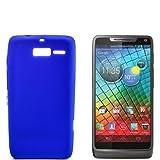 numerva Schutzhülle kompatibel mit Motorola RAZR i Hülle Silikon Handyhülle für Motorola RAZR i (XT890) Hülle [Blau]
