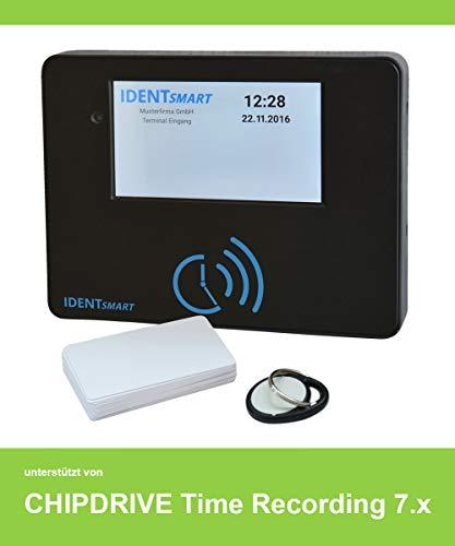 IDENTsmart ID500 TR Zeiterfassung Set 15 Mitarbeiter, mit Chipdrive Timerecording verwendbar - inkl. 1 Stunde Support