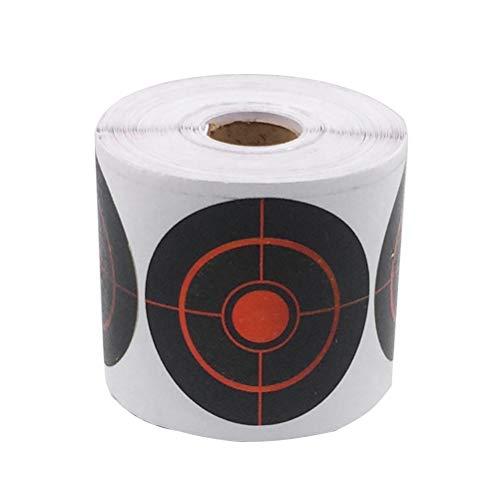 LIOOBO Splatter Ziele Shooting Runde Selbstklebende Ziel Aufkleber Papier Reactive Target Aufkleber 7.5cm 1 Rolle (Schwarz)