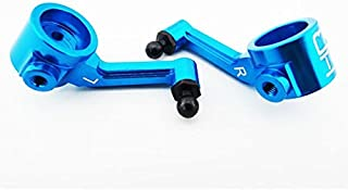 Hot Racing ECT2106 Blue Aluminum Steering Knuckles ECX, Blue