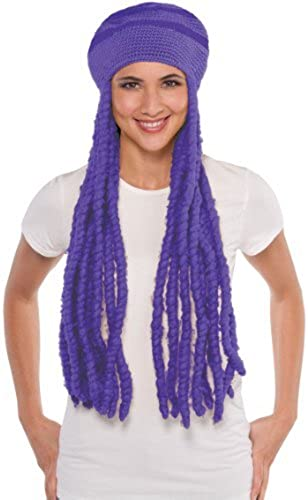 lila Dreadlocks Wig Cap by Team Spirit