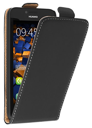 mumbi Tasche Flip Case kompatibel mit Huawei Y5 Hülle Handytasche Case Wallet, schwarz