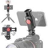 カメラスマホホルダーセットスマートフォン三脚マウント ホットシューマウント付き1/4スレッド 三脚 360度回転 自拍棒 相機适用