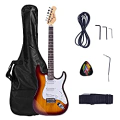 """Sycamore Body, Maple U-Shaped Neck S-S-S pickups, 5-Way Selector Switch 25.5"""" Scale Length, 22 Frets, 42mm Nut Width Tremolo Bridge, 1 Volume & 2 Tone Controls Includes: Guitar Gig Bag, Guitar Strap, Pick Sampler"""