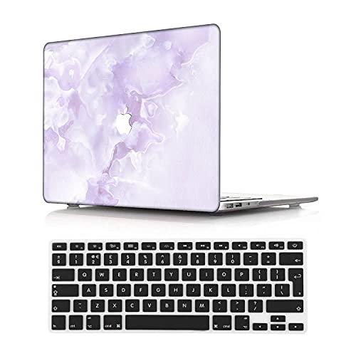 NEWCENT MacBook Pro 13' Retina Funda,Plástico Ultra Delgado Ligero Cáscara Cubierta EU Teclado Cubierta para MacBook Pro 13 Pulgadas Sin CD-ROM/Táctil(Modelo:A1502/A1425),Mármol A 246