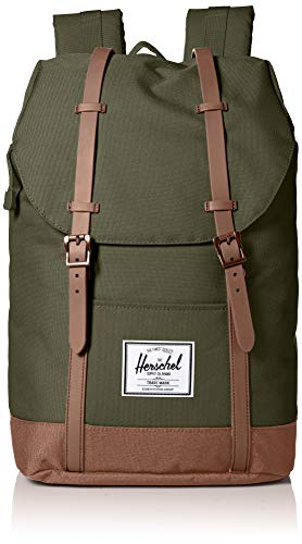 Herschel supply Company - Zaino casual Retreat, Sella marrone oliva. (Verde) - 10066-03011-OS
