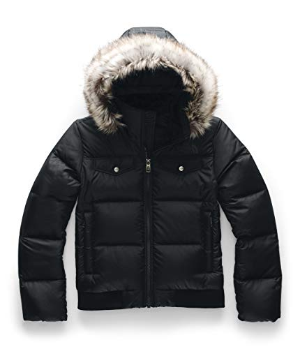 The North Face Girls Gotham Bomber Down jacket- A3Y74- Tnf Black S XL -New M