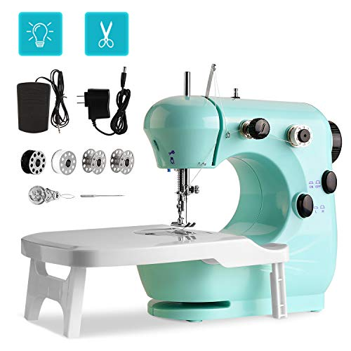 Review Portable Sewing Machine WADEO Mini Sewing Machine for Beginners, with Extension Table, Foot P...