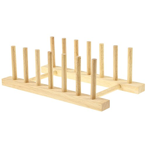 Apollo Wooden plate rack, Wood, 26x15x12