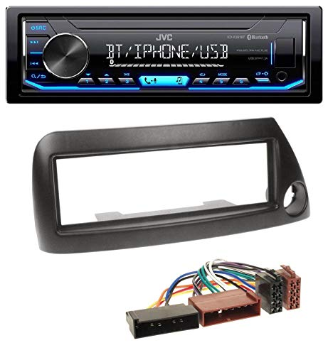 caraudio24 JVC KD-X351BT AUX USB Bluetooth MP3 Autoradio für Ford Ka (bis 2008) - schwarz