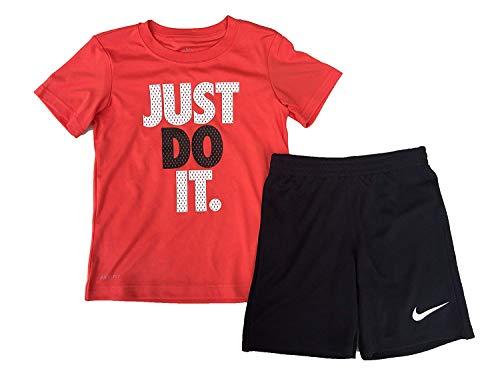 Nike Just Do It - Juego de camiseta y pantalones cortos de manga corta para niño (2 piezas, 12 m)