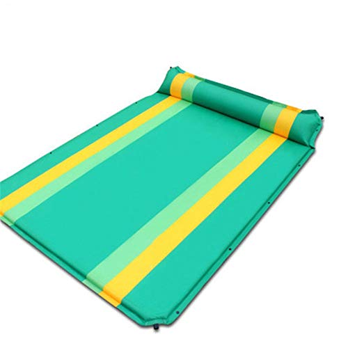LIYANG Inflatable Beds Double Size Thick Automatic Inflatable Cushion Camping Mattress Inflatable Mat Compact And Moistureproof for Hiking (Color : Green, Size : 190X130X5CM)