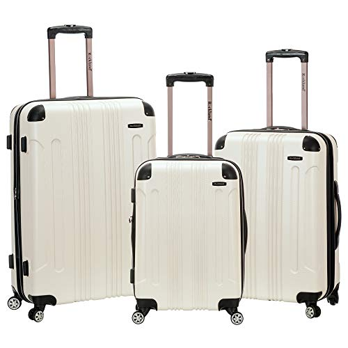 Rockland London Hardside Spinner Wheel Luggage, White