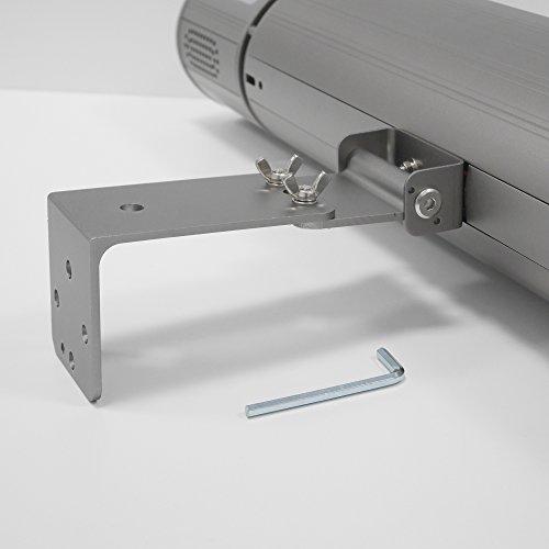 VASNER Infrarot Heizstrahler Appino 20 silber, 2000 Watt, Terrassenstrahler + Fernbedienung + Bluetooth App Steuerung, Infrarotstrahler Terrasse außen, elektrisch - 9