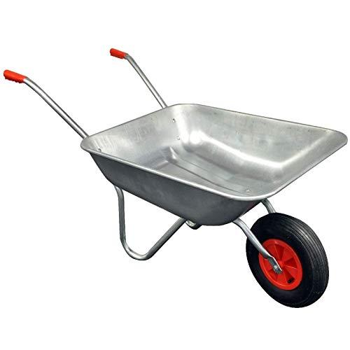 Gr8 Garden Heavy Duty Wheelbarrow 65l Litre Galvanised Steel DIY Outdoor...