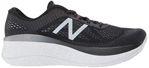 New Balance Men's Fresh Foam More V1 Running Shoe, Black/Orca, 7.5 M US