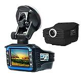 2In1 Full HD 720P Cámara DVR Para Automóvil Inglés-Ruso Velocímetro De Radar Bilingüe Grabador De Video Automático Cámara De Tablero Con Sensor G DVR Para Automóvil