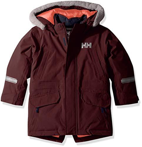 Helly Hansen Isfjord Parka à capuche imperméable pour enfants et bébés, Enfant et bébé, 40341, 662 Wild Rose., Size 9