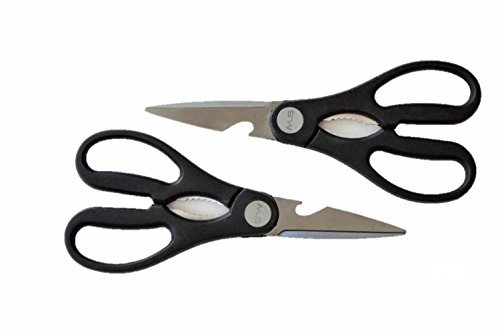 Kitchen Shears - Set of 2 Stainless Steel Blades Multipurpose Shears for Poultry, Herbs, Bottle Cap Opener, Nut Cracker and All Your Kitchen Scissor and Home Tasks