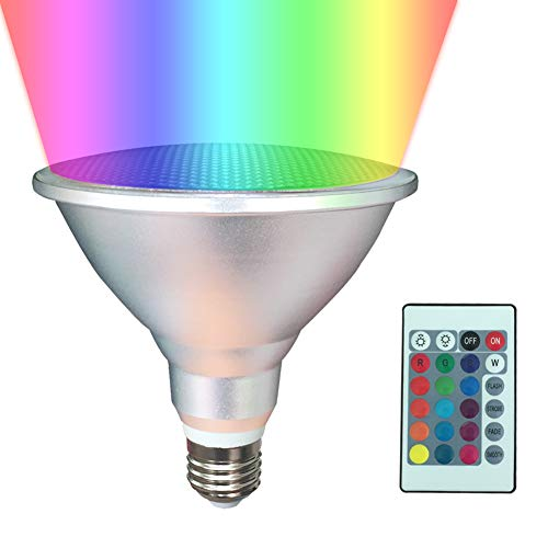 PAR38 LED Light Bulb ,20W LED Flood Light Outdoor/ Indoor,Dimmable RGB Color Changing Spotlight with Remote Control, Waterproof Spotlights for Living Room Garden Christmas Party Decoration