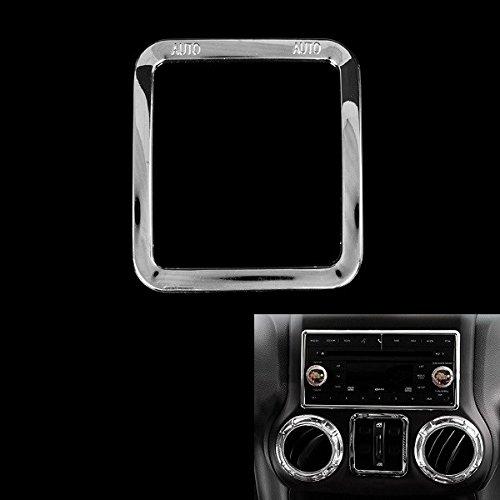 YONGYAO Kontrollschild für Auto, Rim, Dekoration, silberfarben, ABS, für Jeep Wrangler 2011 bis 2016