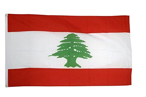 Flaggenfritze Fahne/Flagge Libanon + gratis Sticker