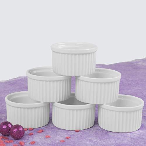 Holst Porzellan RA 2036 Pasteten-, Souffléform & Ramequin 8 cm, weiß, 8 x 8 x 4.5 cm, 6 Einheiten